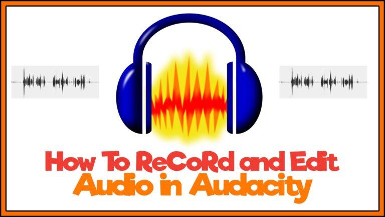 Audacity – Devenez spécialiste accoustique ou de l'enregistrement et l'édition audio