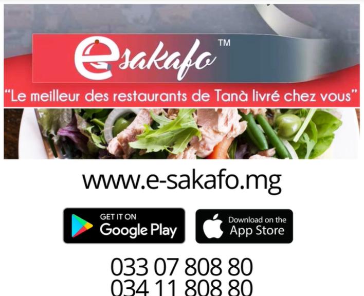E-sakafo, la gastronomie livrée chez vous !