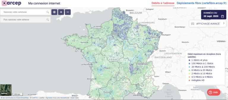 «Ma connexion internet», un outil cartographique pour découvrir la qualité du débit
